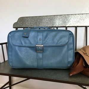 Vintage Samsonite Light Blue Suitcase